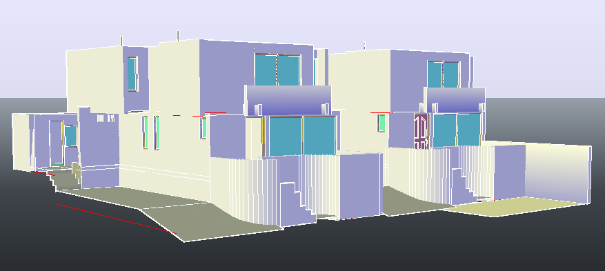 3D drawing of bungalow design drawing