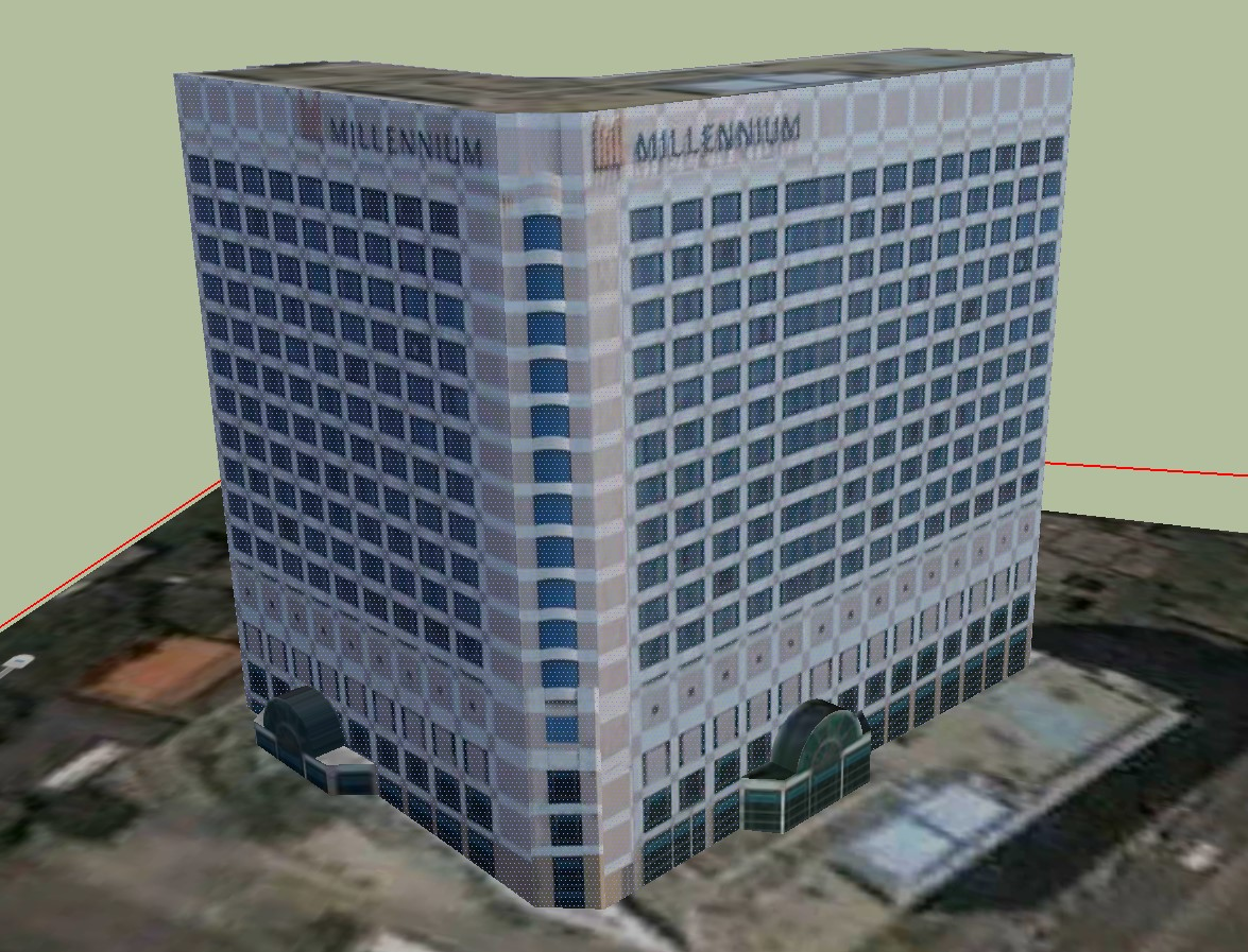 3D drawing of hotel building