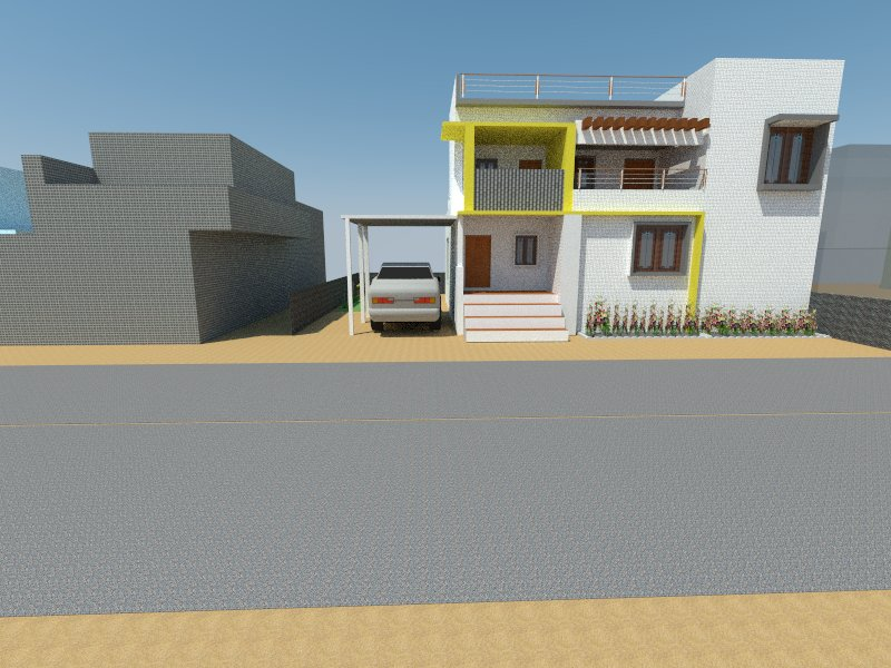 3D model of house plan