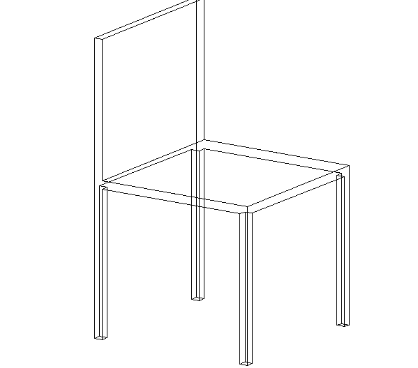 3D view of a chair (1)
