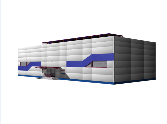 3D view of a corporate building