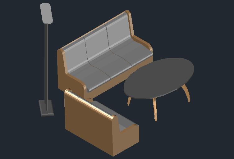 3D view of a sofa-set (6)