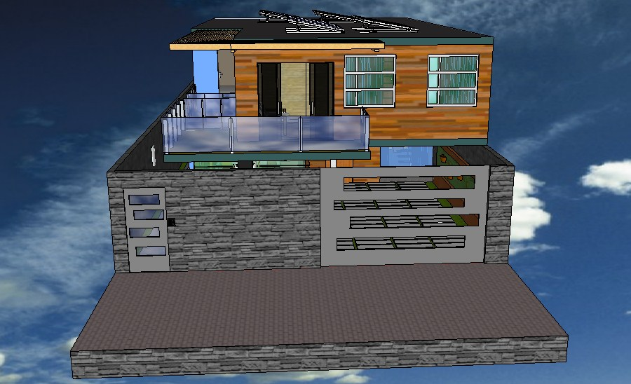 3D view of the Bungalow in SketchUp