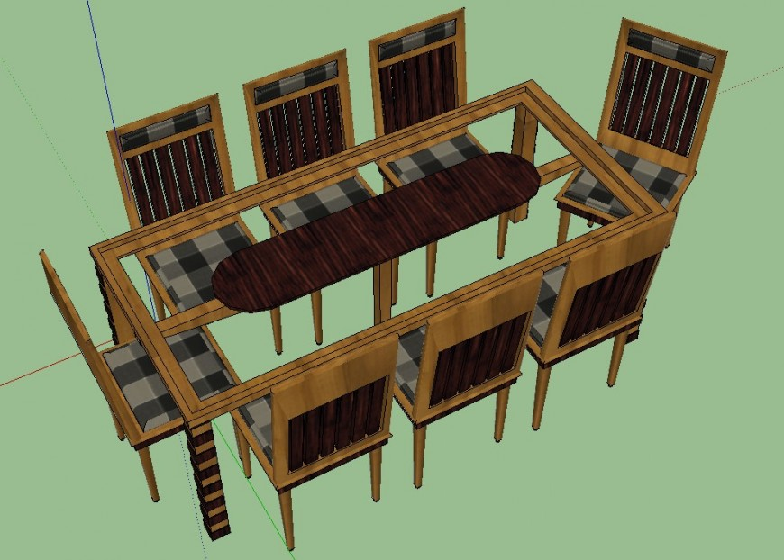 3 d cad drawing of rectangle shape dining table auto cad ...