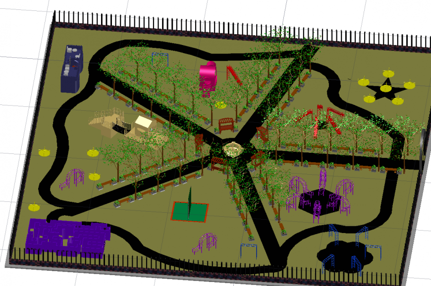 3 D plumbing garden modal layout file
