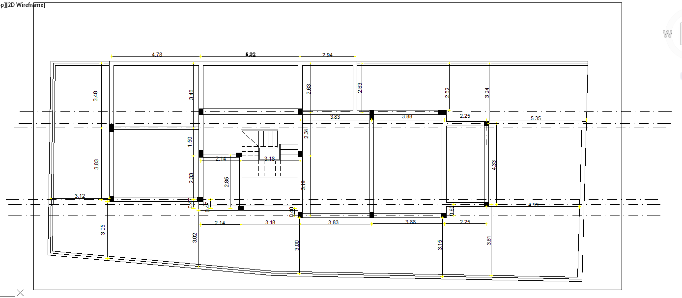Center line lay-out plan
