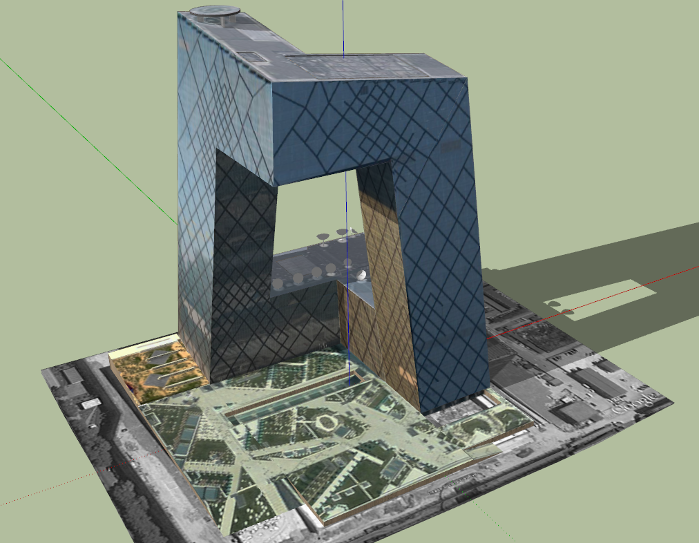 3d Modern Office building design sketch up file