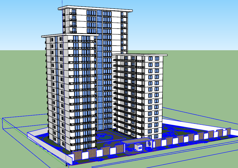 3d Residential Apartment project