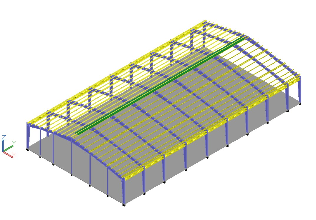 3d Roof detail in cad