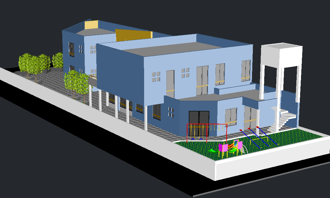 3d School design dwg file