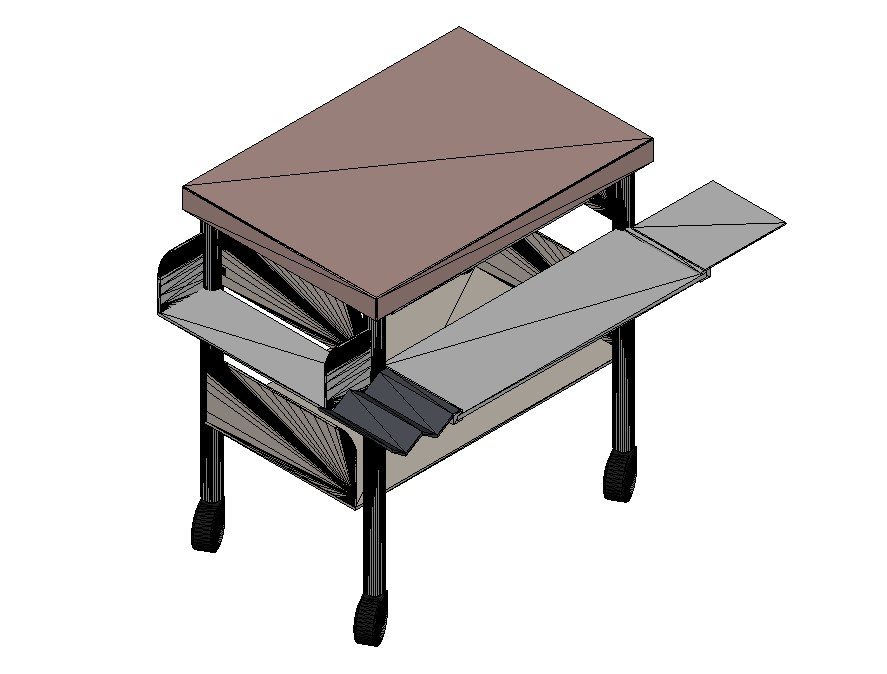 3d Table Design In AutoCAD File