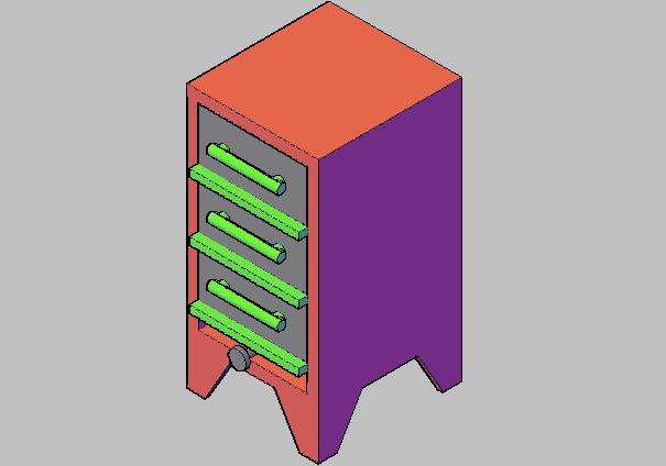 3d design of bread oven details dwg file