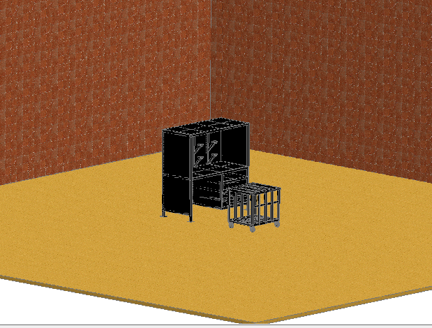 3d design of dyeracin table with wall dwg file