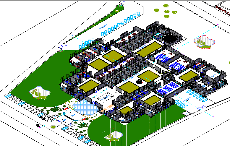 3d design of judiciary government building dwg file