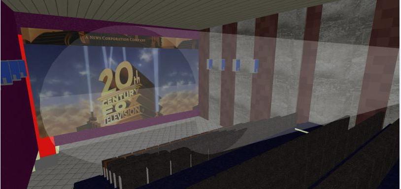 3d design of multiplex theater screen dwg file
