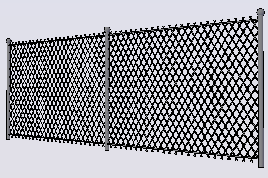 3d design of perimeter fence details dwg file