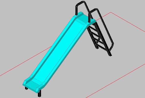 3d design of play ground equipment dwg file