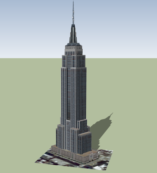 3d design of state empire architecture project dwg file