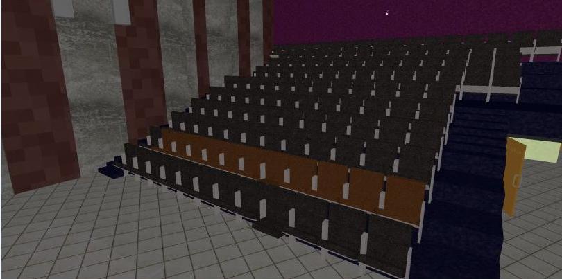 3d design of theater indoor interiors dwg file