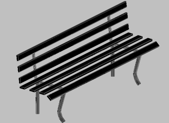 3d design of wooden square bank dwg file