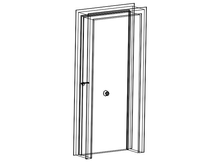 3d door with frame