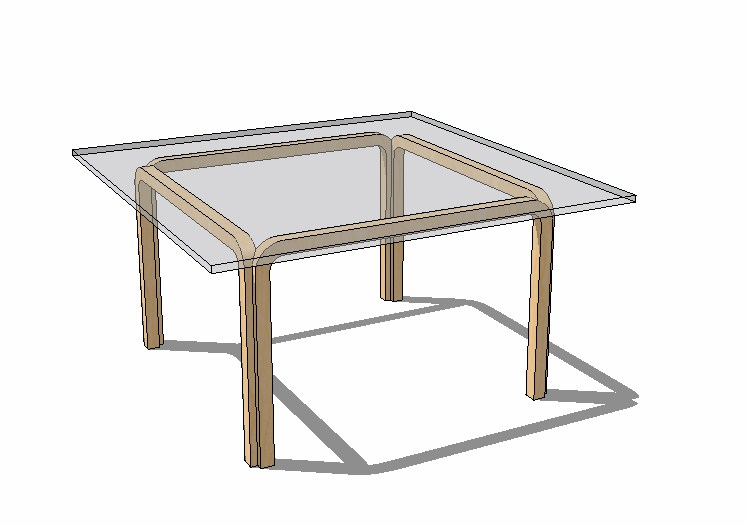 3d drawing of centre table .