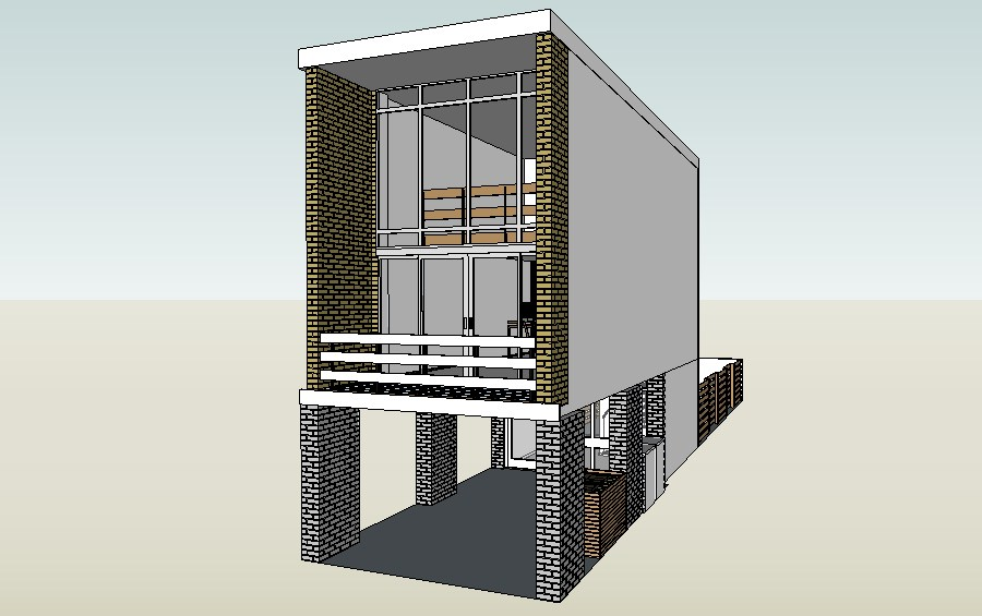 3d drawing of the residential house in SketchUp file