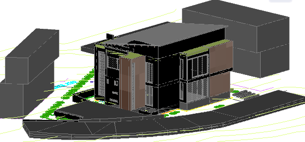3d house dwg file
