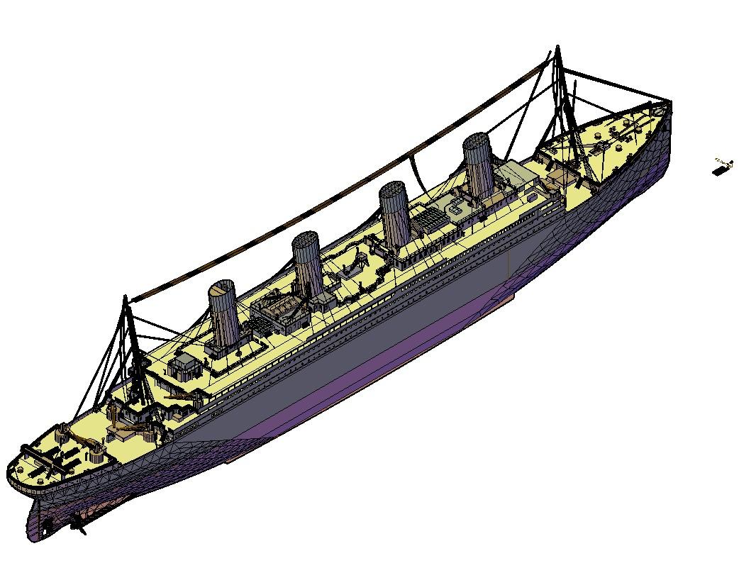3d model of ship CAD transportation blocks in autocad