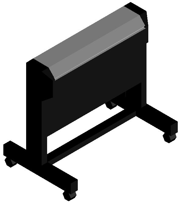 3d office use equipment dwg file