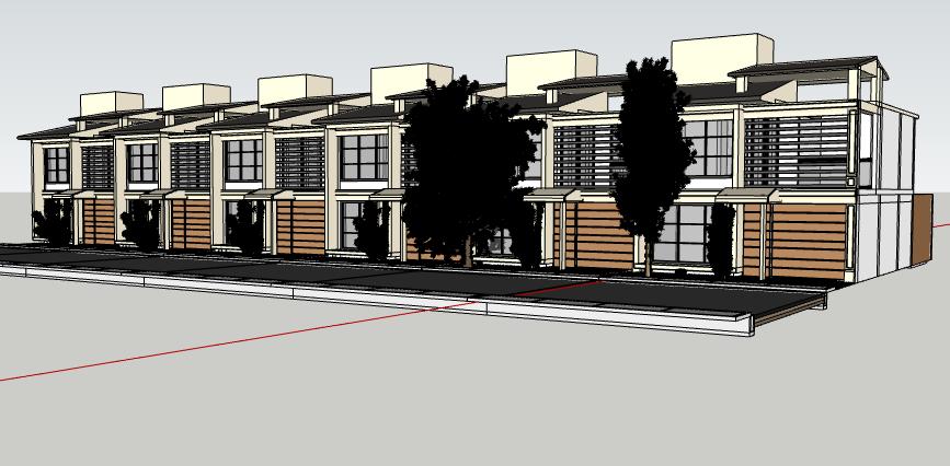3d prototype housing bungalow design dwg file