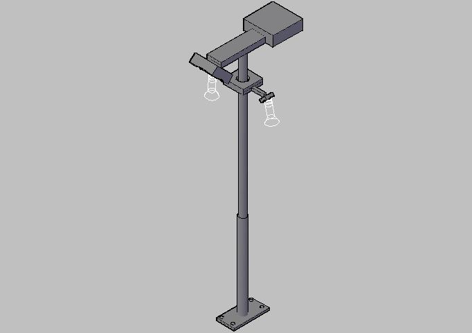 3d street light pole design dwg file