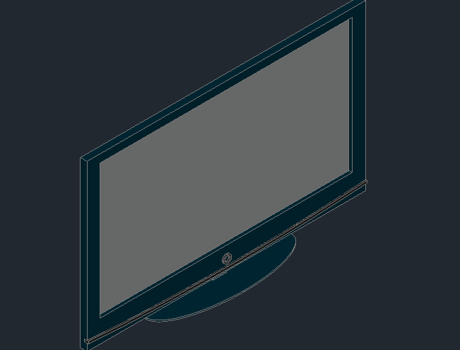 3d view of a plasma tv