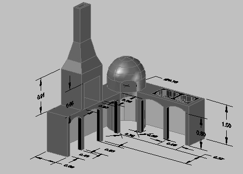 3d view of kitchen interior dwg file