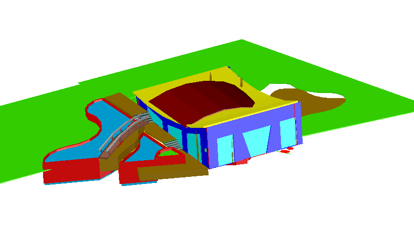 3d view of swimming pool