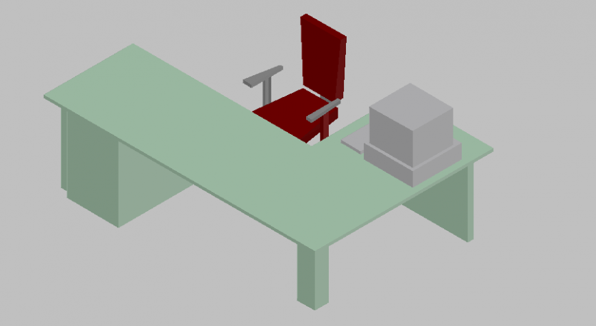 3d design of chair and table with furniture detail dwg file