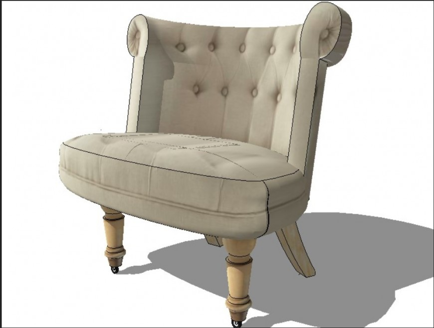 3d model of sofa chair detail furniture layout file in autocad format