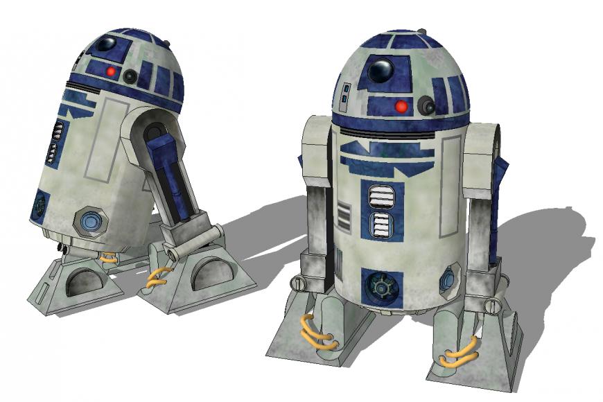3d model of the robot in skp file.