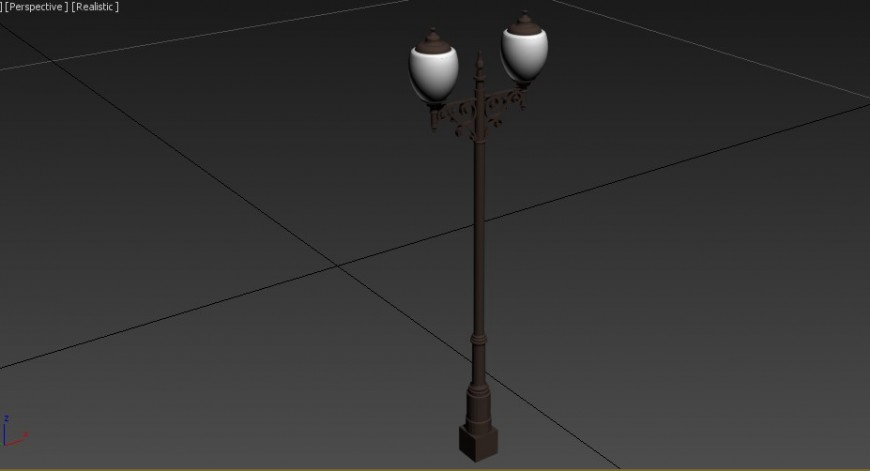 3d model of the street lamp post in max file.