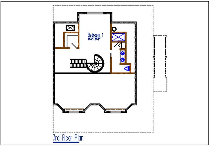 3nd floor plan detail dwg file