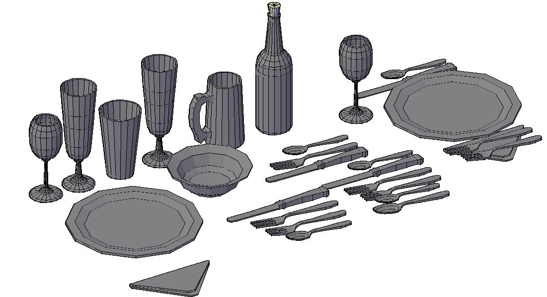 3D Blocks Table ware