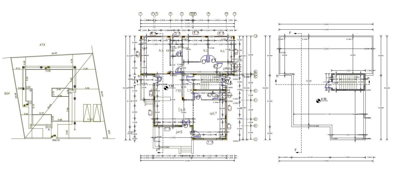 45 X 52 Architecture 3 BHK House Plan AutoCAD File  Cadbull