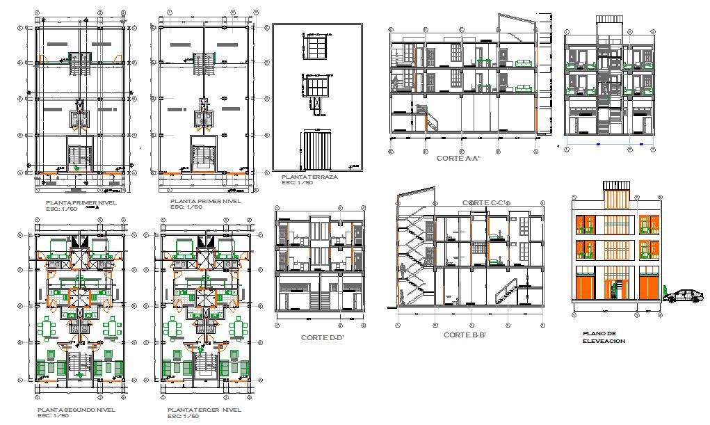 Apartment Building Plan Design