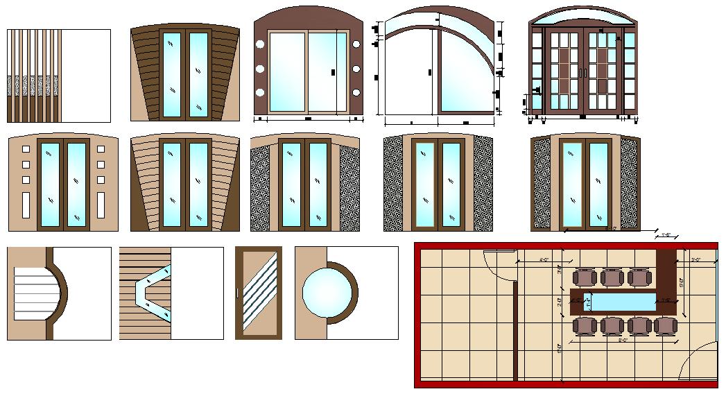 Main Door Design Block