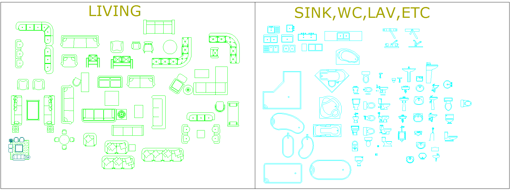 Living and comfort room Blocks