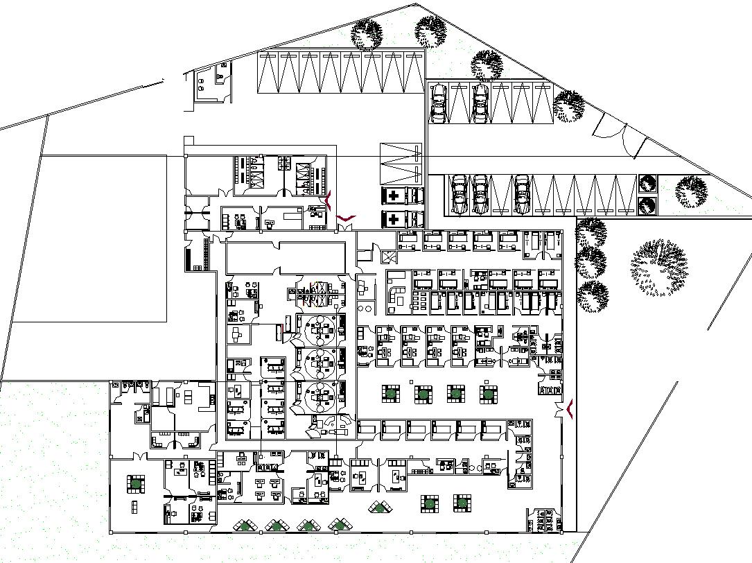 Hospital Layout plan
