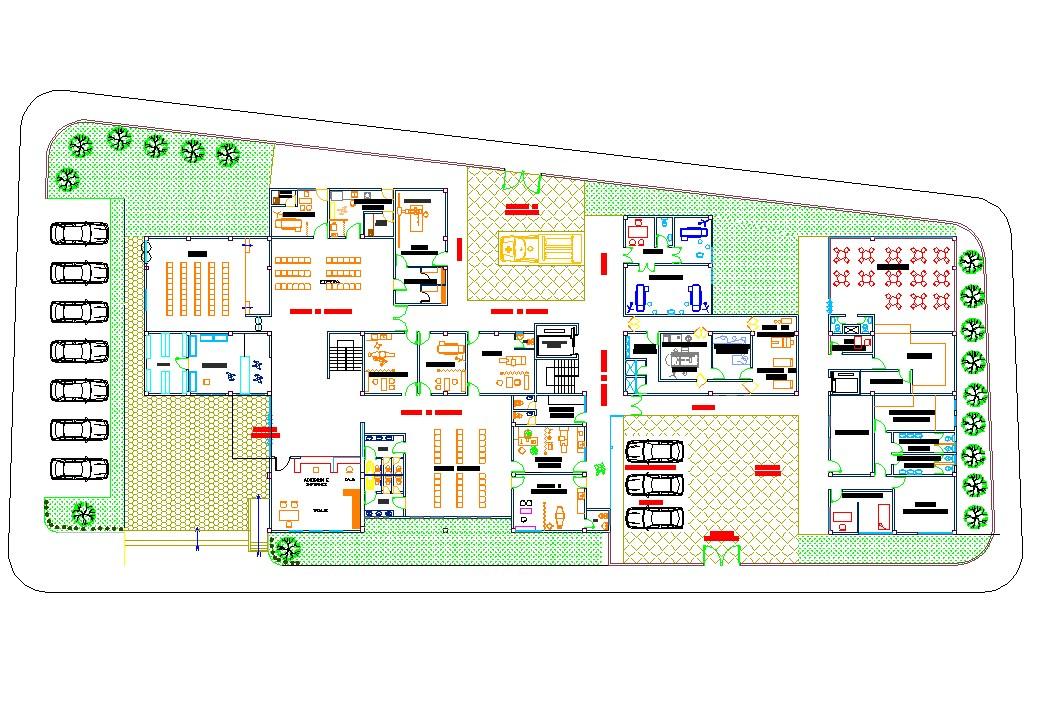 Hospital architecture floor plan
