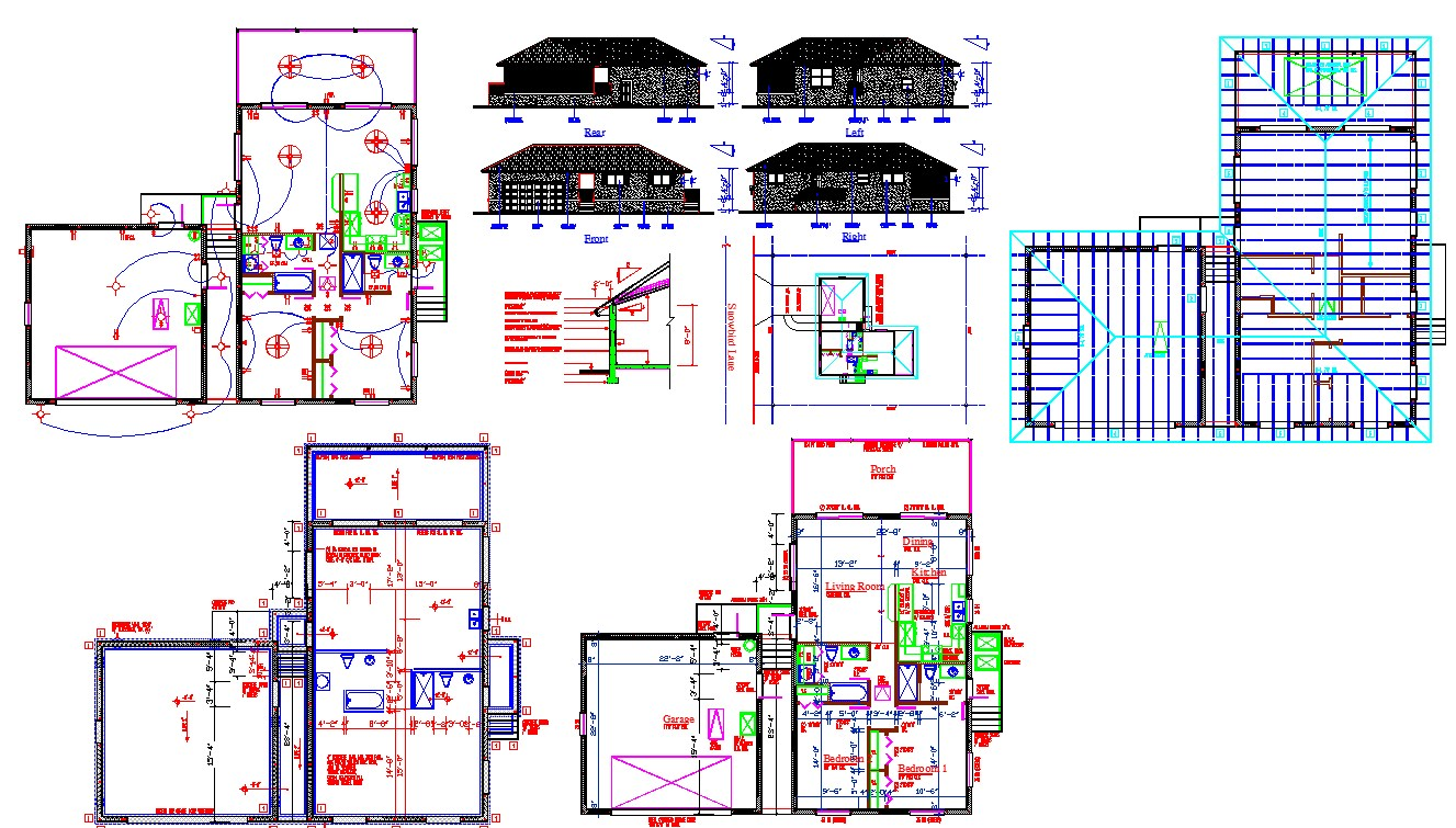 Single house architecture design and detail