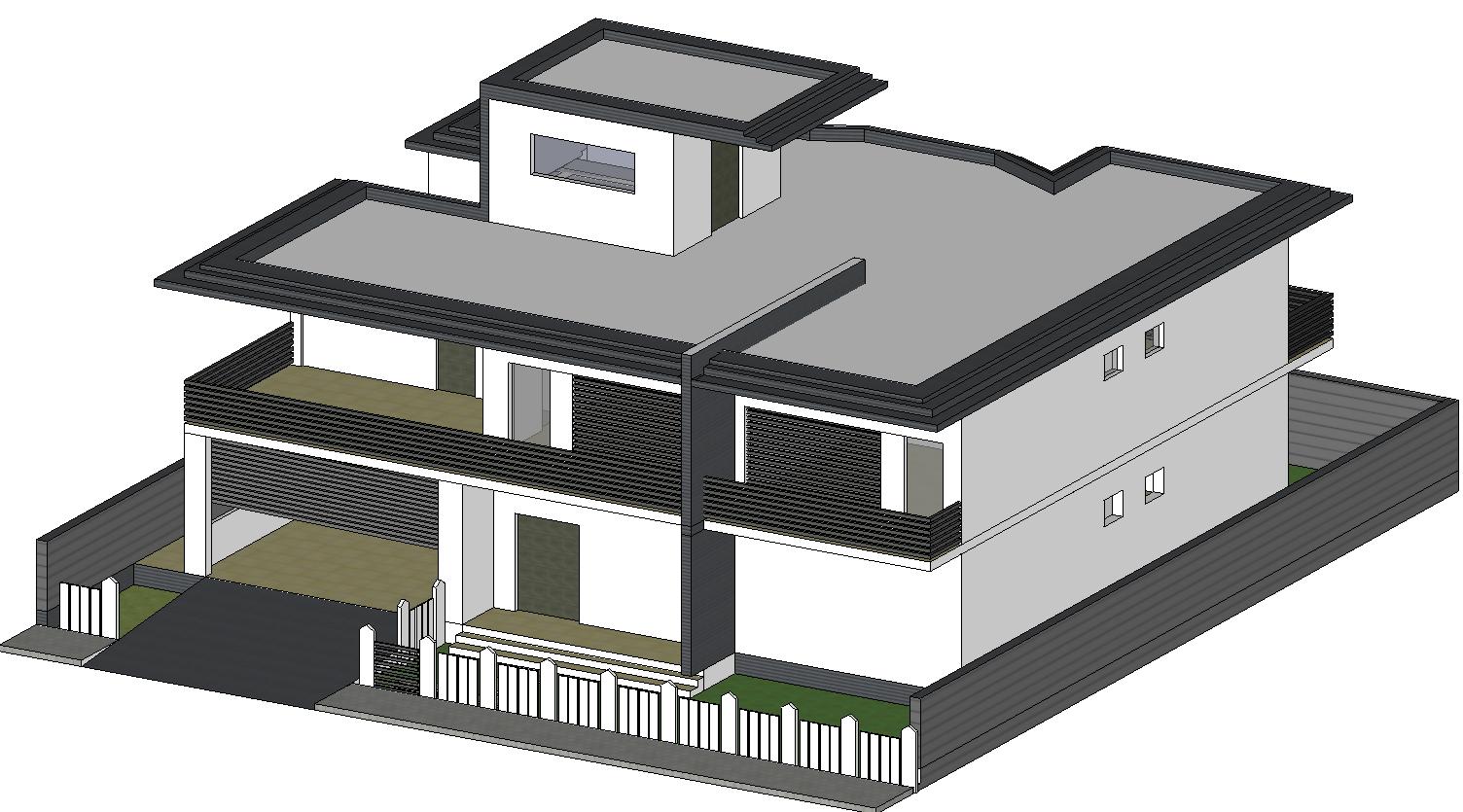 3D bunglow design