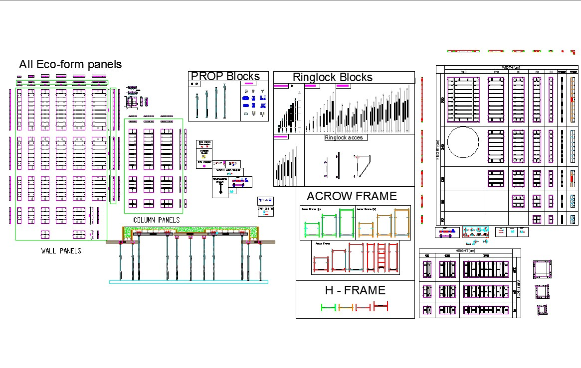 Detail of constructions cad files